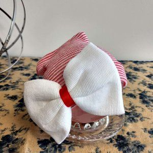 Prop Ocean Baby Red Cap with White Ball Tie